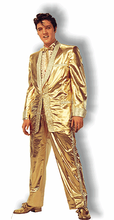 Life Size Elvis Presley Suit Standee - Gold Lame