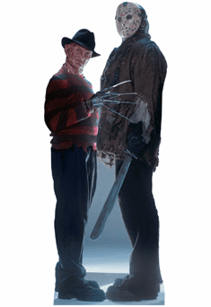 Life Size Freddy vs Jason Standee