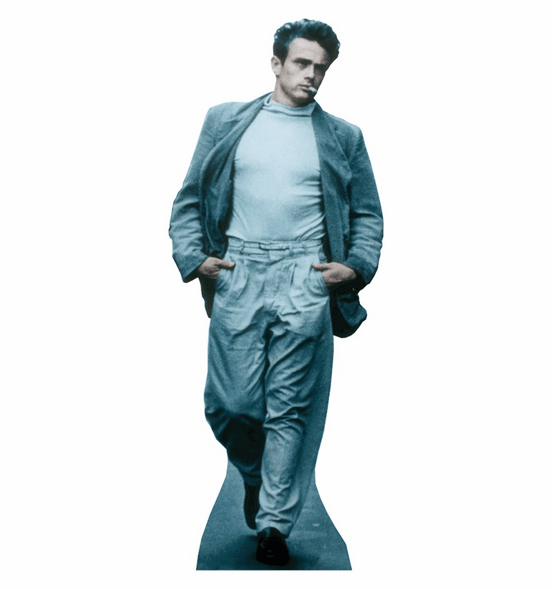 Life Size James Dean Standee - Blue Smoking