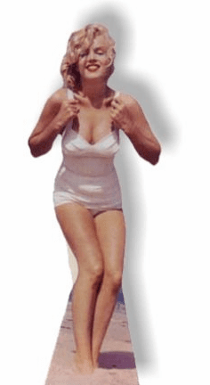 Life Size Marilyn Monroe Standee - White Swimsuit