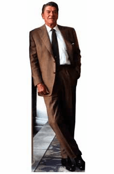 Life Size President Ronald Reagan Standee - Brown Suit