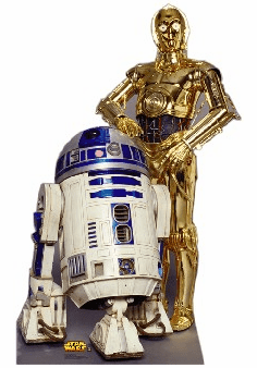 Life Size R2 D2 & C3PO Standee
