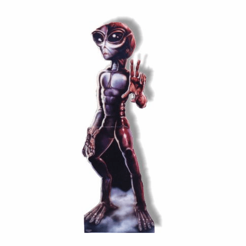 Life Size Roswell Alien Standee - Female