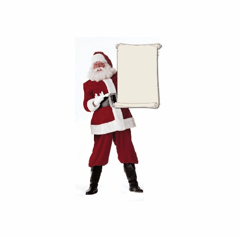 Life Size Santa Claus Standee with Blank List