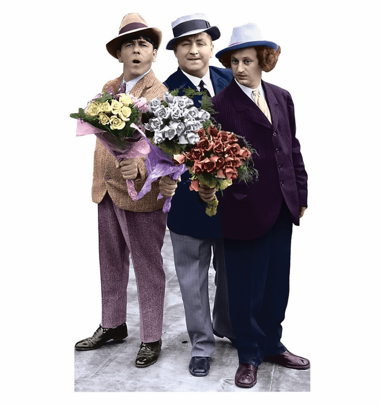 Life Size Three Stooges Standee - Flowers