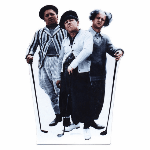 Life Size Three Stooges Standee - Golf