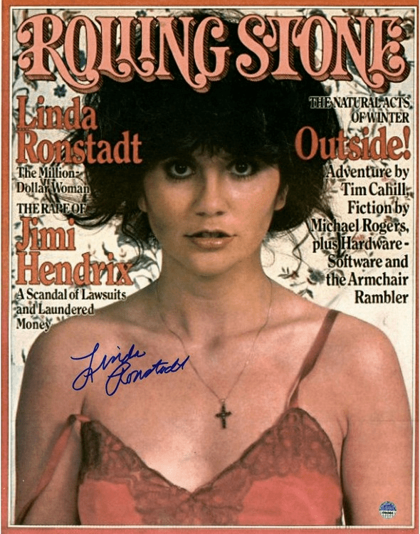 Linda Ronstadt Signed Rolling Stone Cover 11x14 Photo