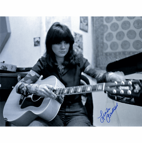 Linda Ronstadt Signed Tuning the Guitar 11x14 Photo
