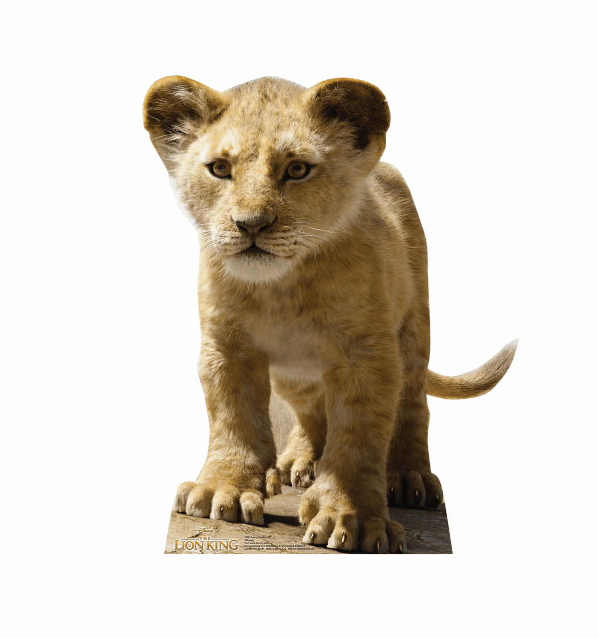 Live Action Lion King Young Simba Standee
