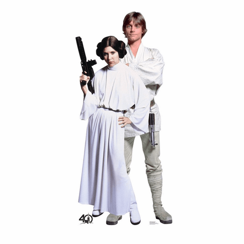 Luke and Leia Star Wars 40th Standee