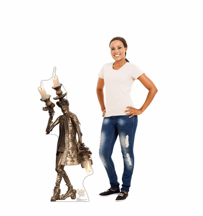 Lumiere Disney Beauty and the Beast Live Action Cardboard Cutout