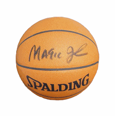 Magic Johnson Autographed Spalding Official Basketball