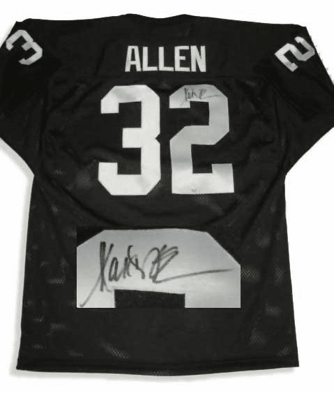 Marcus Allen Oakland Raiders Autographed NFL Black Throwback Jersey