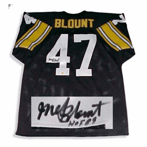 Mel Blount Pittsburg Steelers Autographed NFL Throwback Black Jersey
