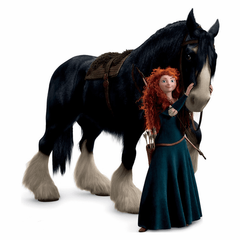 Merida and Angus Brave Cardboard Cutout