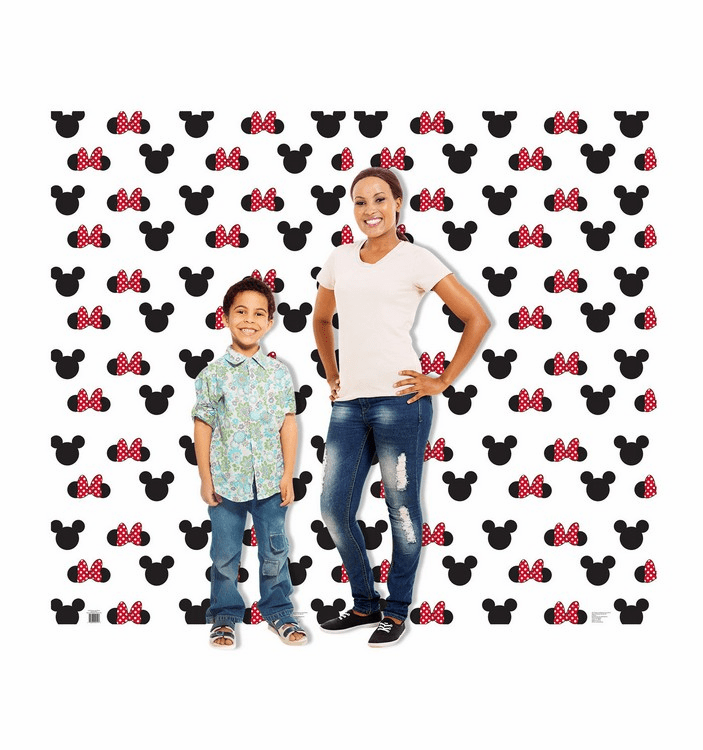 Mickey and Minnie Ears Step and Repeat Double Wide Cardboard Cutout