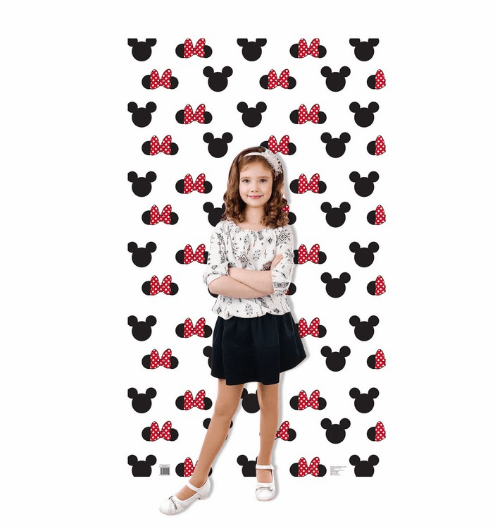 Mickey and Minnie Ears Step and Repeat Standup Cardboard Cutout