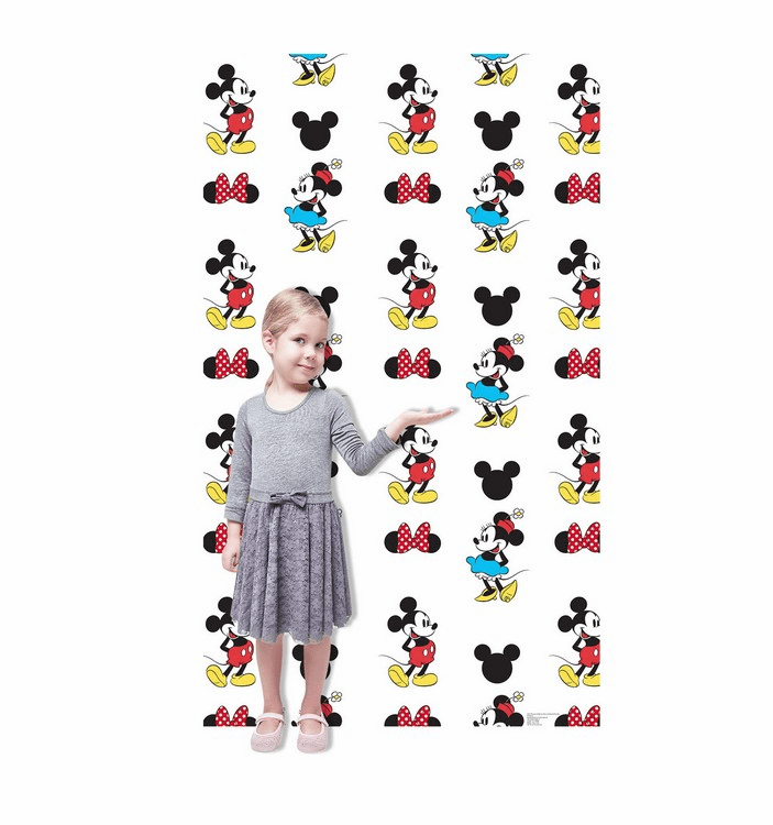 Mickey and Minnie Step and Repeat Standup Cardboard Cutout