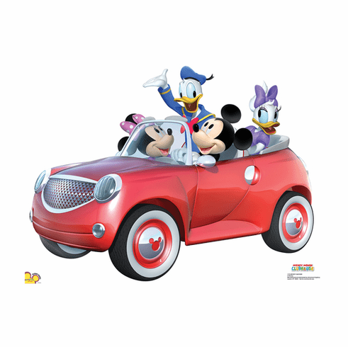 Mickey Car Ride Standee