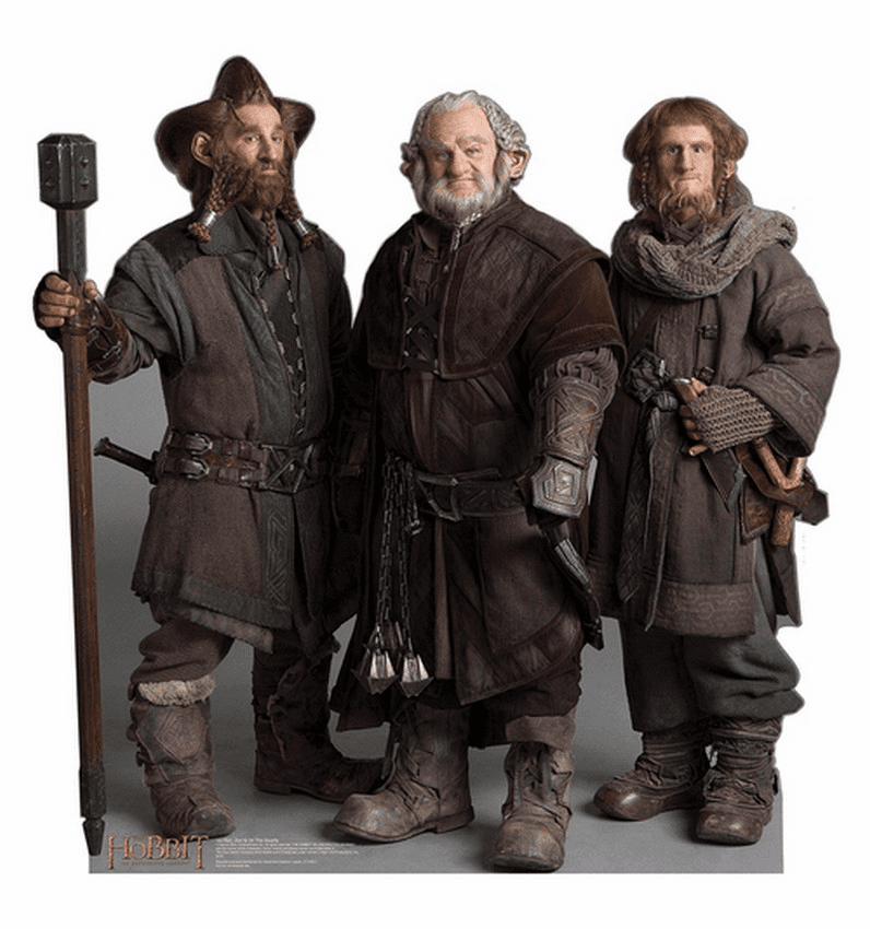 Nori Dori Ori The Dwarfs The Hobbit Standee