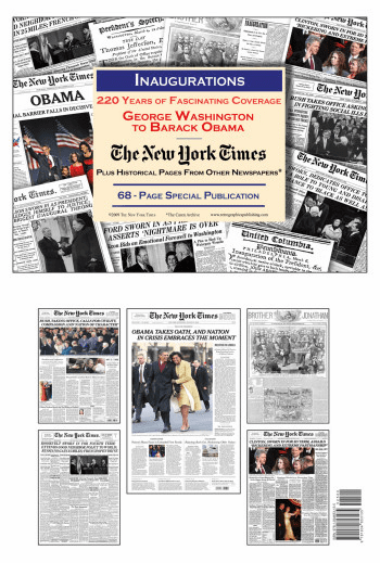NY Times Newspaper Compilation - Inaugurations, Washington to Obama