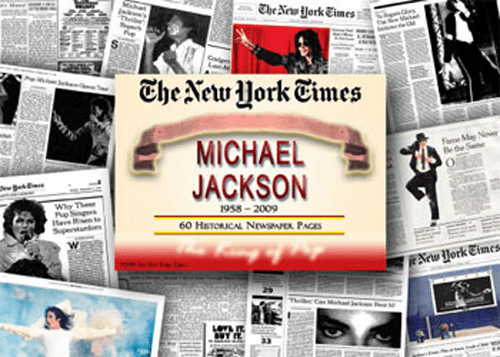 NY Times Newspaper Compilation - The Life and Times of Michael Jackson