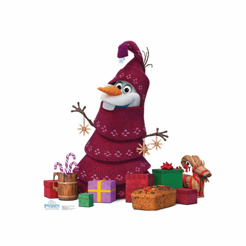 Olaf Knitted Tree Disney's Olaf's Frozen Adventure Standee