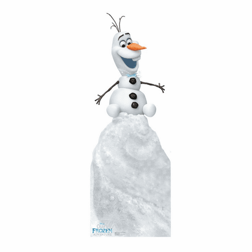 Olaf on Snow Mound Disney's Olaf's Frozen Adventure Standee