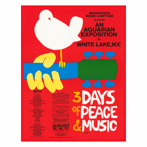 "Original Woodstock Poster Reprint - Unframed (18""x 24"")"
