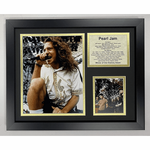 Pearl Jam Collectible Framed Photo Collage