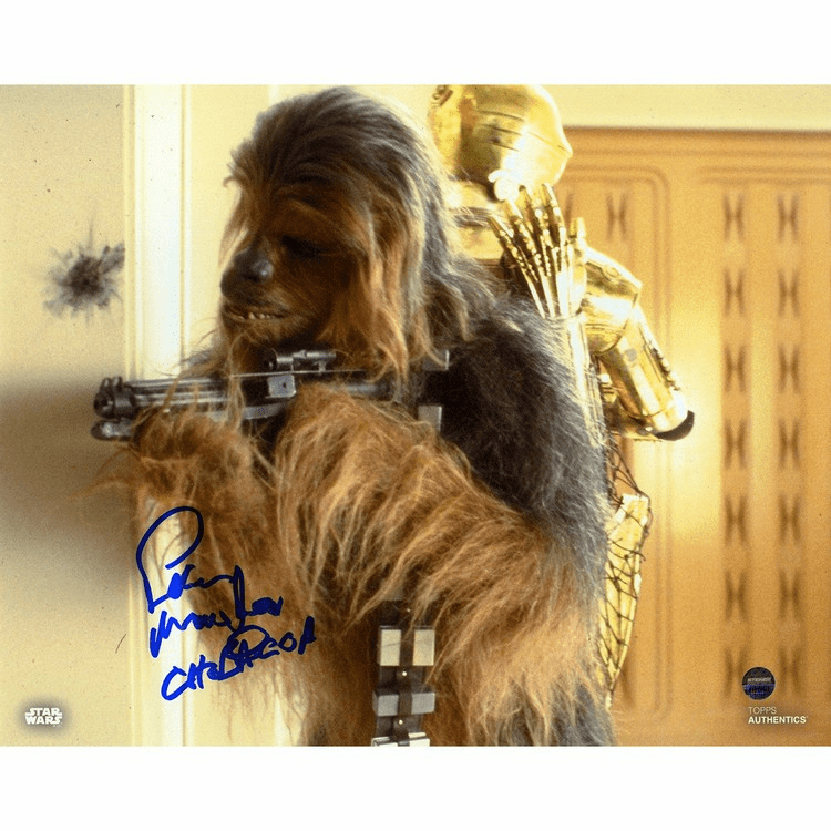 Peter Mayhew Signed Chewbacca in�Star Wars: Empire Strikes 8x10 Photo