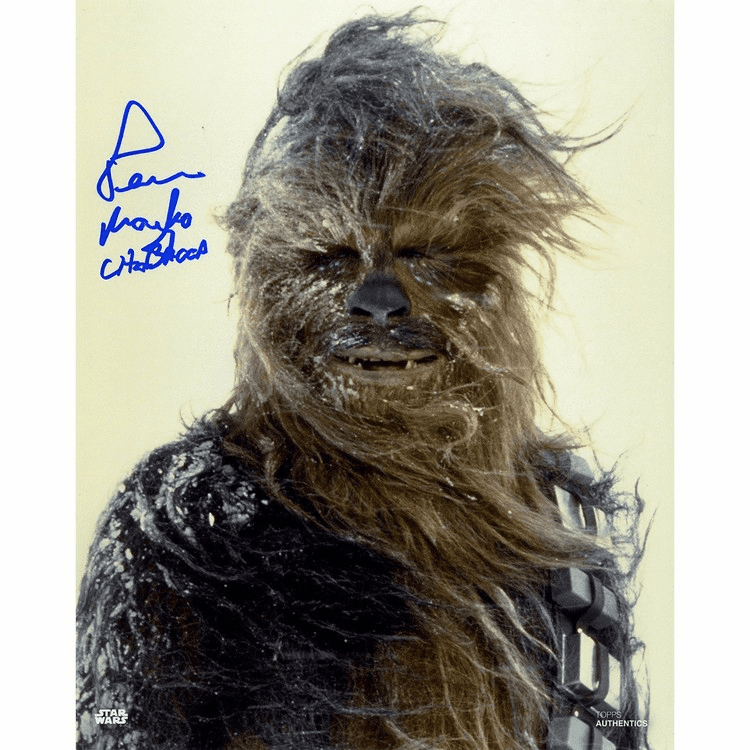 Peter Mayhew Signed 'Chewbacca in the Snow' Vertical 8x10 Photo