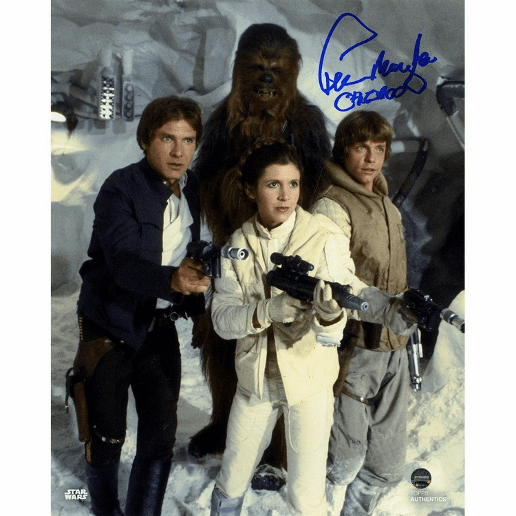 Peter Mayhew Signed Empire Strikes Back 8x10 Photo