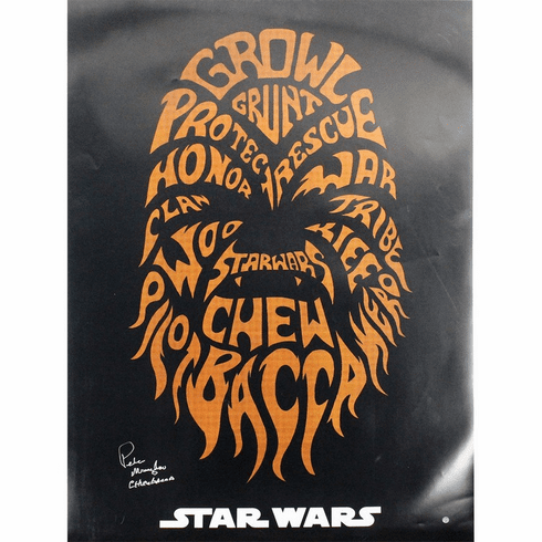 Peter Mayhew Signed Star Wars- Chewbacca Poster 24x36
