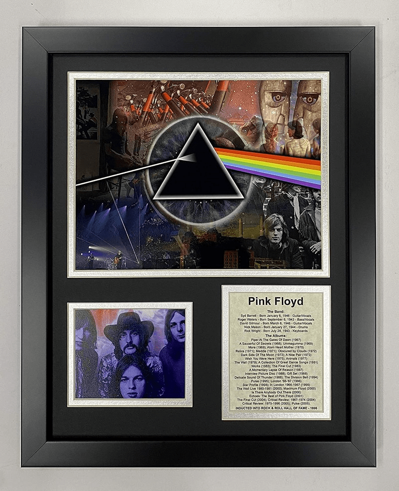 Pink Floyd Mosaic English Rock Band Collectible Framed Photo Collage