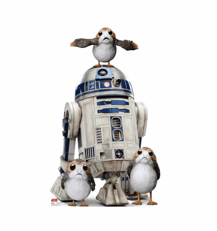 Porgs with R2-D2 Star Wars VIII The Last Jedi Standee