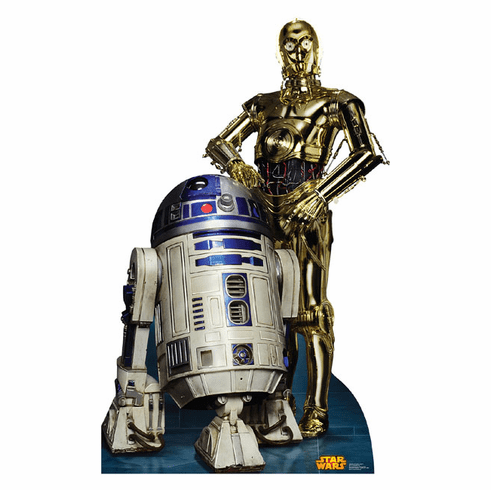 R2D2 and C3PO Cardboard Cutout
