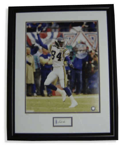 Randy Moss Minnesota Vikings Autographed Framed 16x20 Photograph