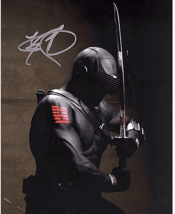 Ray Park GI Joe In Black Suit Vertical 8x10 Photo