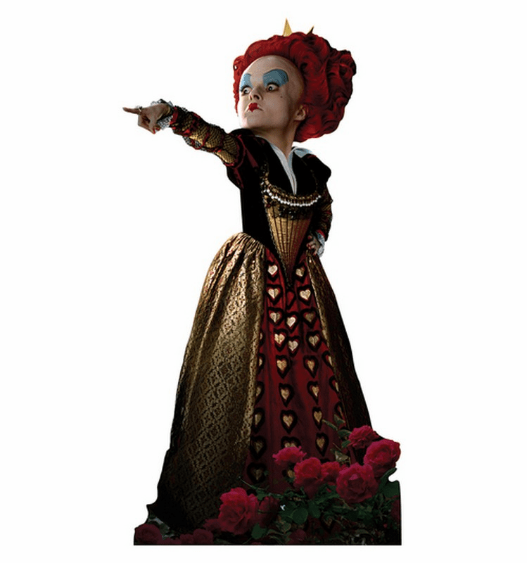 Red Queen Alice in Wonderland Cardboard Cutout