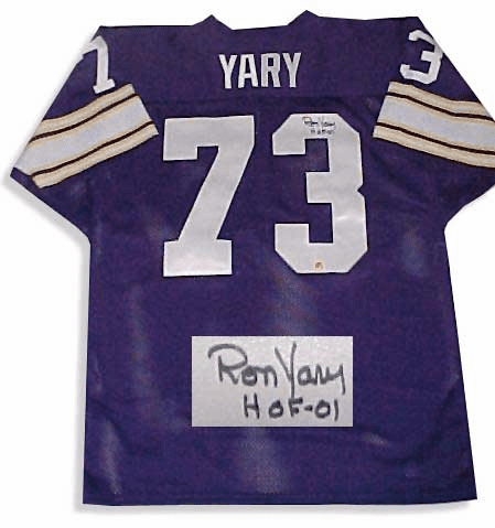 Ron Yary Minnesota Vikings Authentic Autographed NFL Throwback Jersey