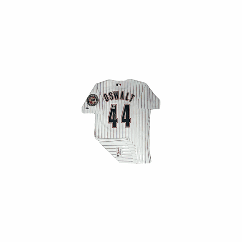 Roy Oswalt Houston Astros Autographed Majestic White Pinstriped Jersey