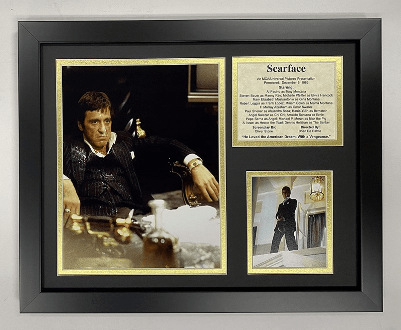 Scarface Al Pacino Collectible Framed Photo Collage