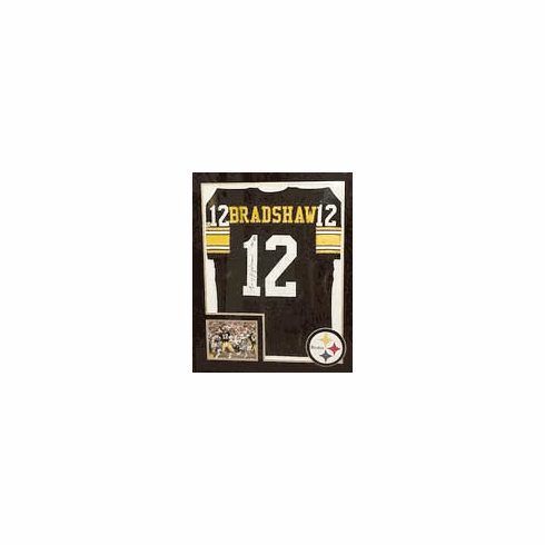 Terry Bradshaw Authentic Autographed Custom Jersey (Framed)
