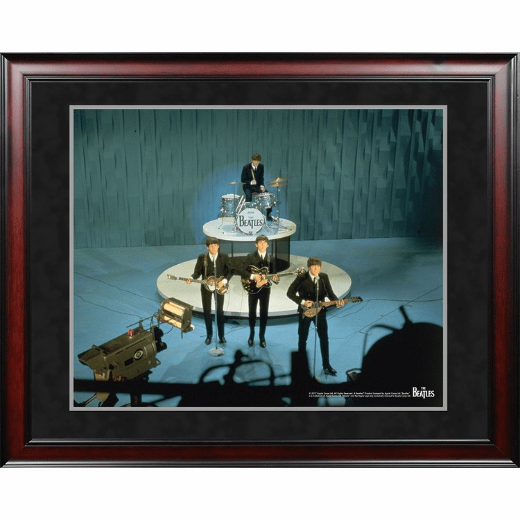 The Beatles '1964 On Stage Color Shot' 8x10 Framed Photo
