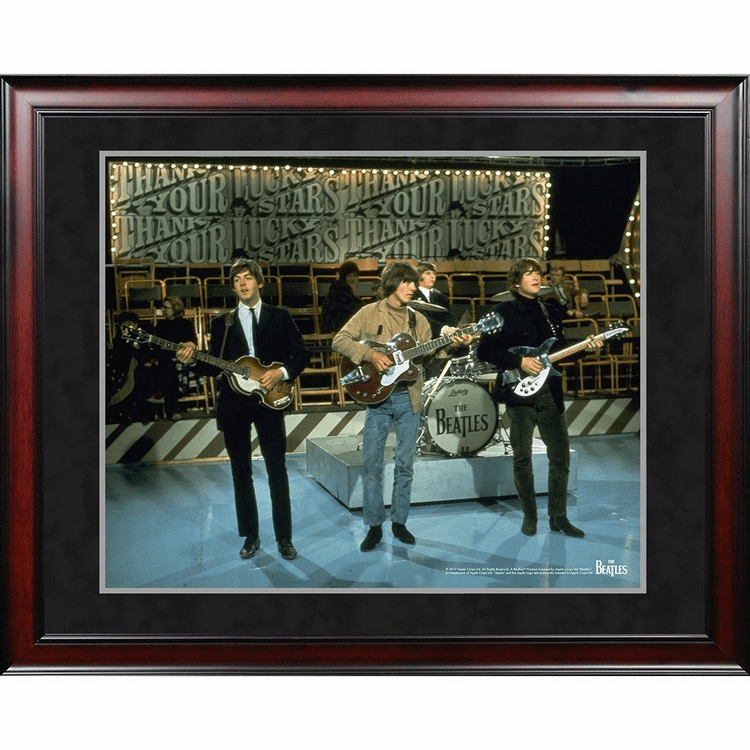 The Beatles '1965 On Stage Color Shot' 8x10 Framed Photo