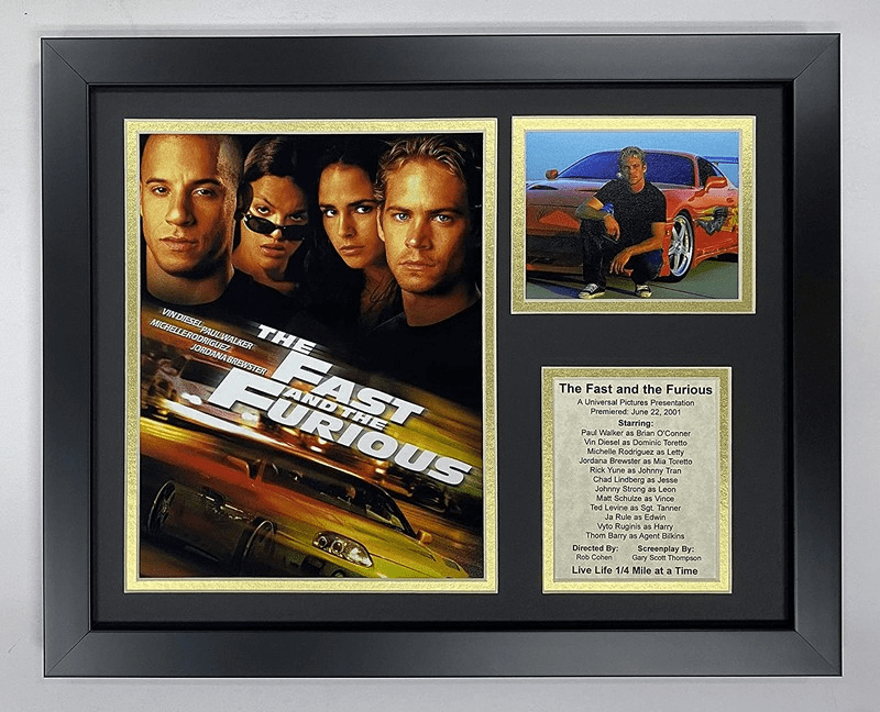 The Fast and The Furious Movie Collectible Framed Photo Collage
