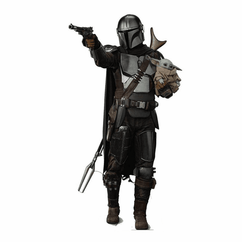 The Mandalorian with Child Standee Season 2