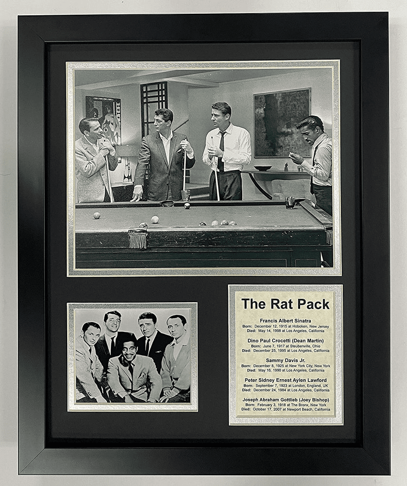 The Rat Pack Group Pool Table Collectible Framed Photo Collage