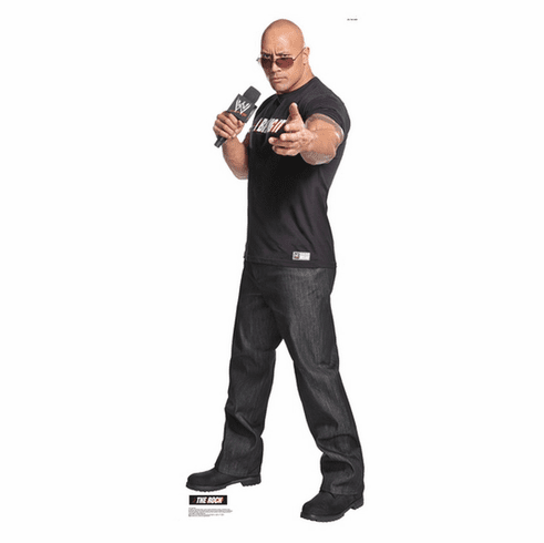 The Rock WWE Standee